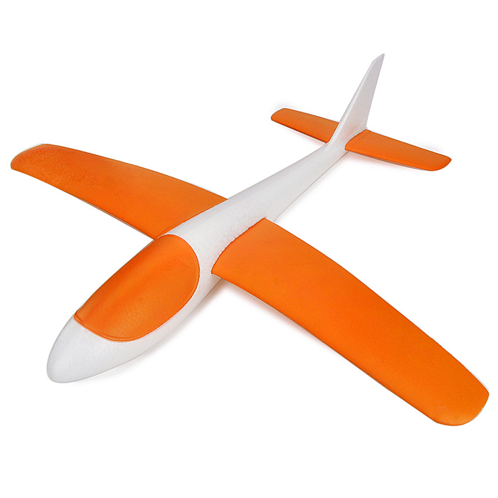 S186 Fashionable EPP Hand Launch Glider Airplane Toy - Orange + White fashionable soft cotton hat for 0 3 years old baby navy