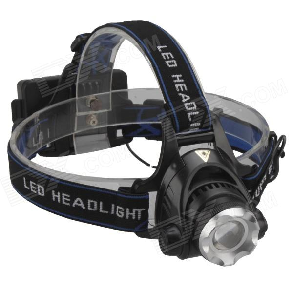 SingFire SF-632 600lm 3-Mode White Zooming Focus Headlight w/ Cree XM-L T6 - Black (2 x 18650) singfire sf 558g 200lm 4 mode white green led zooming headlight 2 x 18650