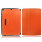 Protective Denim + Plastic Case Cover Stand w/ Auto Sleep / Pen Holder for Ipad AIR - Orange