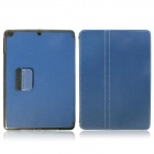 Protective Denim + Plastic Case Cover Stand w/ Auto Sleep / Pen Holder for Ipad AIR - Deep Blue
