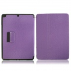 Protective Denim + Plastic Case Cover Stand w/ Auto Sleep / Pen Holder for Ipad AIR - Purple
