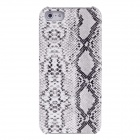 SAYOO 2205 Snakeskin Sound Hung Series PU Leather Protective Back Case for Iphone 5 / 5s - White