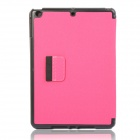 Protective Denim + Case plástico stand w / Auto Dormir / Pen Holder para Ipad AIR - Deep Pink