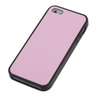 Stylish Protective Silicone Back Case for Iphone 5 / 5c / 5s - Pink + Black