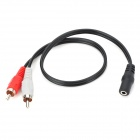 3.5mm Female to 2 * RCA Male Audio Adapter Cable (36CM-Length)