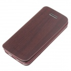 Fashionable Flip-Open Protective PU Leather Case Cover for Iphone 5C - Rufous