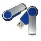 Ourspop U336 Swivel USB 2.0 Flash Drive - Blue + Silver (16GB)