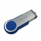 Ourspop U336 Swivel USB 2.0 Flash Drive - Blue + Silver (4GB)
