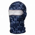 QIngLongLin Outdoor Cycling Seamless Hood Mask - White + Blue (Free Size)