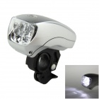 XC-761 5-LED 3-Mode White Light Bicycle Headlight - Grey + Silver (3 x AAA)