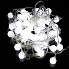5W 50-LED White Small Ball Style Christmas Decorative String Light - (5m / 220V / 2-Round-Pin Plug)