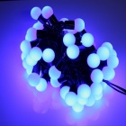 5W 50-LED 8-Mode Blue Small Ball Style Christmas Decorative String Light - (5m / 220V)