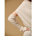 Fashion Women's Even Glove Knitting Coat - Beige  (Free Size)