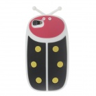 Ladybug Shape Protective Silicone Back Case for Iphone 5 / 5s / 5c - White + Black + Red + Yellow