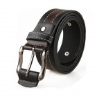 Men's PU Leather Pin Buckle - Brown + Black
