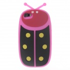 Ladybug Shape Protective Silicone Back Case for Iphone 5 / 5s / 5c - Deep Pink + Black + Red +Yellow