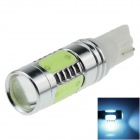 T10 / 194 / 168 / W5W 7.5W 500lm 495nm 5-LED Ice Blue Car Steering Light / Tail Light - (12~24V)