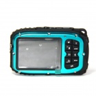 "DC-B168 Mini Sports 2.7"" TFT 5.0 MP CMOS Water Resistant Camera Camcorder - Blue + Black"