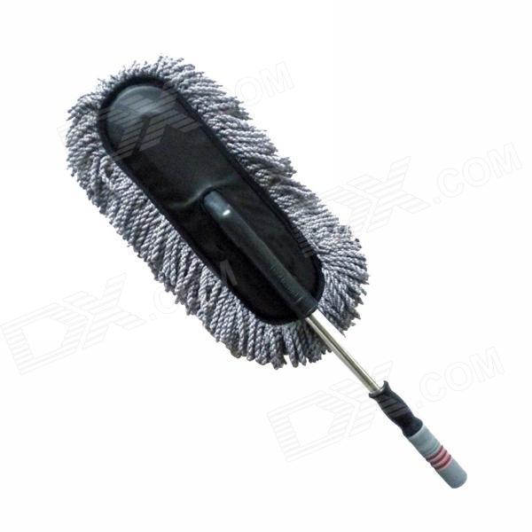 Merdia QPYP18T3 Removable Retractablecar Nano Fiber Car Wash Brush Wax Mop - Black + Grey White