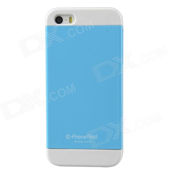 PhoneAdd Three-piece Candy Color Protective Case for Iphone 5 / 5s - Blue + White