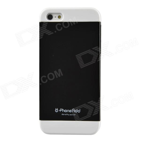 PhoneAdd Three-piece Candy Color Protective Case for Iphone 5 / 5s - Black + White