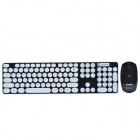 CHEERLINK HK3960 2.4GHz 104-Key Wireless Keyboard + Optical Mouse Combo Kit - Black