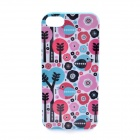 LOFTER Winter Sonata Birds Paradise Style Protective Back Case for Iphone 5S - Blue + Pink + White