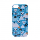 LOFTER Winter Sonata Polar Bear Style Protective Back Case for Iphone 5S - Blue + White + Black