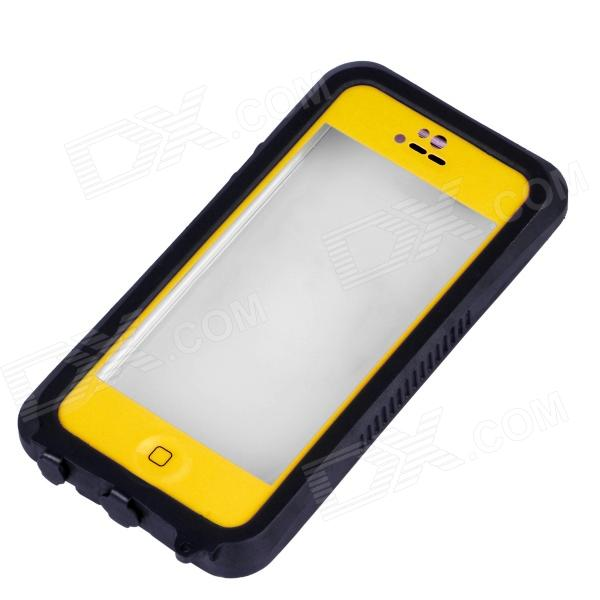 IPEGA I5056 Waterproof Protective Case for Iphone 5 / 5S / 5c - Orange Yellow ipega pg i6001 waterproof protective pc full body case for iphone 6 black yellow