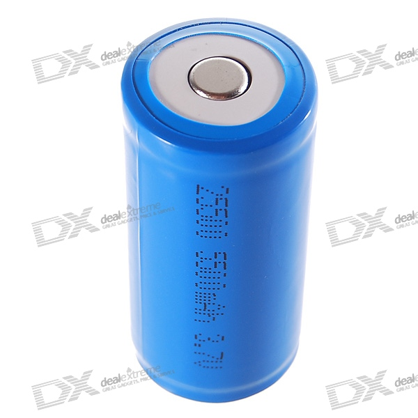 "Protected 25500 3.7V ""5500mAh"" Rechargeable Lithium Battery"