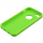 Fashion Contrast Color PC + TPU Protective Back Case for Iphone 5 / 5s / 5c - Green