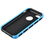 Fashion Contrast Color PC + TPU Protective Back Case for Iphone 5 / 5s / 5c - Blue + Black