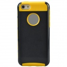 Fashion Contrast Color PC + TPU Protective Back Case for Iphone 5 / 5s / 5c - Black + Yellow