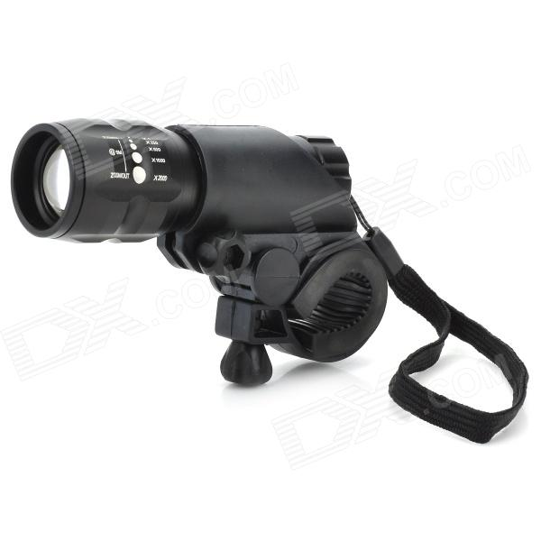 Flood-to-Throw Zooming 150lm 3-Mode LED Bike Light w/ Cree P4-WC / Mount (3*AAA)