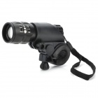 Flood-to-Throw Zooming Cree P4-WC 3-Mode LED Bike Light with Mount (3*AAA)