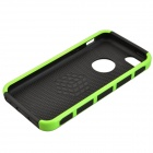 Fashion Contrast Color PC + TPU Protective Back Case for Iphone 5 / 5s / 5c - Green + Black
