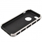 Fashion Contrast Color PC + TPU Protective Back Case for Iphone 5 / 5s / 5c - White + Black