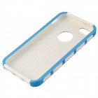 Fashion Contrast Color PC + TPU Protective Back Case for Iphone 5 / 5s / 5c - Blue + White