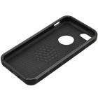 Fashion Contrast Color PC + TPU Protective Back Case for Iphone 5 / 5s / 5c - Black