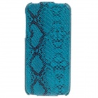 SAYOO Snakeskin Regulus Series Vertical Open Protective PU Leather Case for Iphone 5 / 5s - Blue