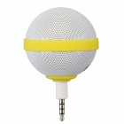 Roundness Style Portable Speaker for Iphone / Samsung / HTC / Motorola / Nokia - White + Yellow
