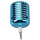 Microphone Style Portable 3.5mm Speaker for Iphone / Samsung / HTC / Motorola / Nokia - Blue
