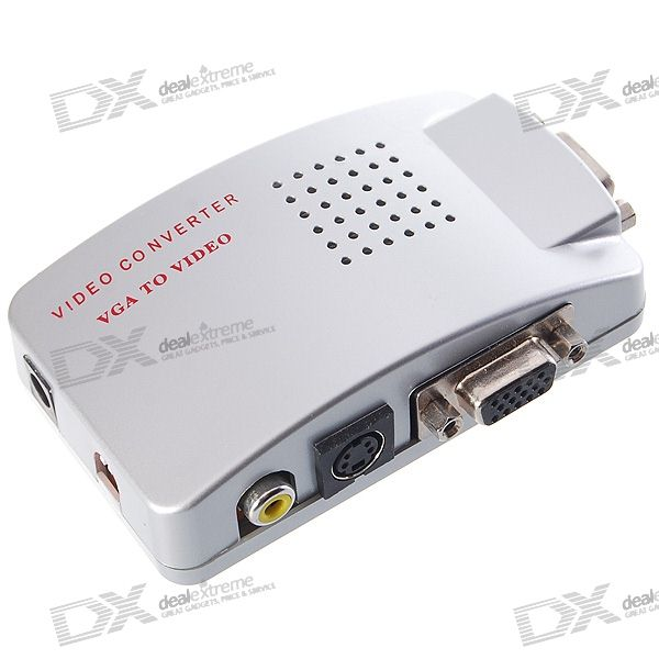 USB poder VGA para Composto + S-Video Converter Box (1280 * 1024px Max)
