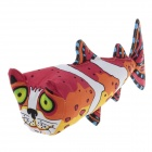 Cute Cat Head Fish Style Catnip Pet Cat Toy - Multicolored