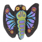 Cute Butterfly Style Catnip Pet Cat Toy - Black + Green + Purple + Blue