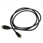 Mini HDMI Male to HDMI Male Connection Cable - Black (150cm