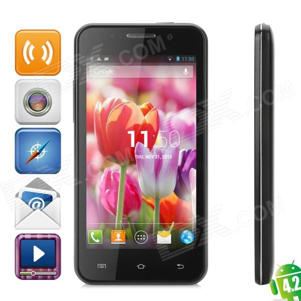 THL W100S Android 4.2 Quad-Core WCDMA Bar Phone w/ 4.5 Capacitive Screen, Wi-Fi and GPS - Black huawei p6s quad core android 4 2 wcdma bar phone w 4 7 screen wi fi ram 2gb and rom16gb white
