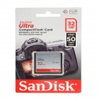 SanDisk Ultra CompactFlash CF Memory Card - Silver (32GB / 333X)