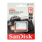 SanDisk Ultra CompactFlash CF Memory Card - Silver (16GB / 333X)