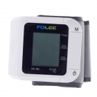 "FOLEE 1.8"" Screen Display Automatic Electronic Wrist Blood Pressure Monitor - White (2 x AAA)"